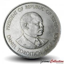 KENYA - PIECE de 1 Shilling - Président Arap Moi - 1980 Km#20