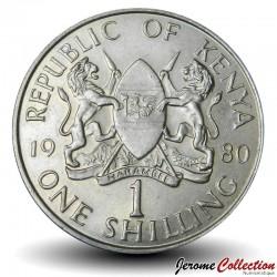 KENYA - PIECE de 1 Shilling - Président Arap Moi - 1980