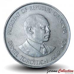 KENYA - PIECE de 50 Cents - Président Arap Moi - 1980 Km#19