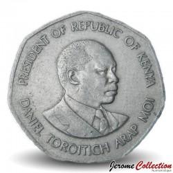 KENYA - PIECE de 5 Shillings - Président Arap Moi - 1985 Km#23