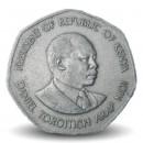 KENYA - PIECE de 5 Shillings - Président Arap Moi - 1985