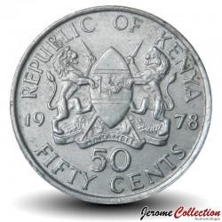 KENYA - PIECE de 50 Cents - Président Jomo Kenyatta - 1978