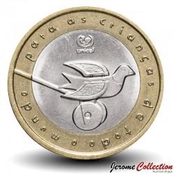 PORTUGAL - PIECE de 200 Escudos - Bimétal - UNICEF - 1999 Km#720