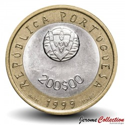 PORTUGAL - PIECE de 200 Escudos - Bimétal - UNICEF - 1999