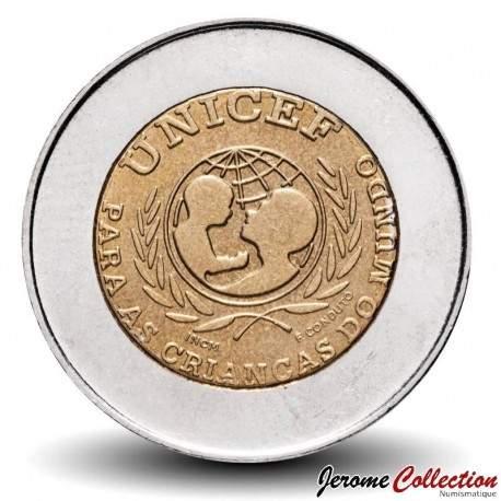 PORTUGAL - PIECE de 100 Escudos - Bimétal - UNICEF - 1999 Km#722