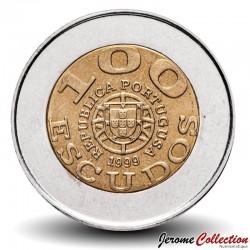 PORTUGAL - PIECE de 100 Escudos - Bimétal - UNICEF - 1999