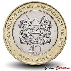 KENYA - PIECE de 40 Shillings - Bimétal - Indépendance - 2003
