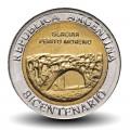 ARGENTINE - PIECE de 1 Peso - Bimétal - Glacier Perito Moreno - 2010 Km#160