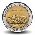 ARGENTINE - PIECE de 1 Peso - Bimétal - Aconcagua - 2010 Km#157