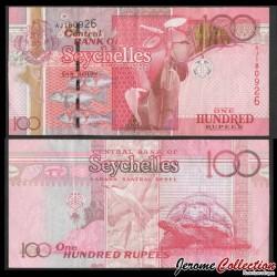 SEYCHELLES - Billet de 100 Roupies - Tortue d'Aldabra - 2011 P44a
