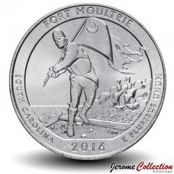 ETATS UNIS / USA - PIECE de 25 Cents - America the Beautiful - Fort Moultrie - Caroline du Sud - 2016 - S Km#639