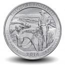 ETATS UNIS / USA - PIECE de 25 Cents - America the Beautiful - Parc national Theodore Roosevelt - Dakota du Nord - 2016 - S