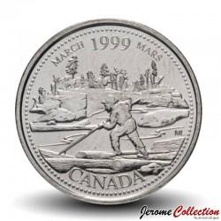 CANADA - PIECE de 25 CENTS - Histoire du Canada - Mars 1999 Km#344