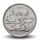 CANADA - PIECE de 25 CENTS - Histoire du Canada - Mars 1999