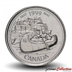 CANADA - PIECE de 25 CENTS - Histoire du Canada - Mai 1999 Km#346
