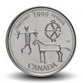CANADA - PIECE de 25 CENTS - Histoire du Canada - Février - 1999 Km#343