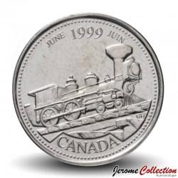 CANADA - PIECE de 25 CENTS - Histoire du Canada - Juin - 1999 Km#347