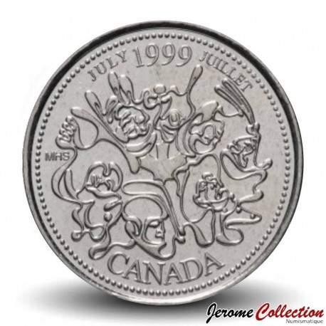 CANADA - PIECE de 25 CENTS - Histoire du Canada - Juillet - 1999 Km#348