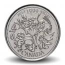 CANADA - PIECE de 25 CENTS - Histoire du Canada - Juillet - 1999