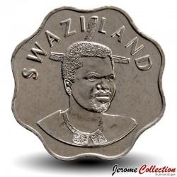 SWAZILAND - PIECE de 10 Cents - Mswati III - Cannes à sucre - 2009