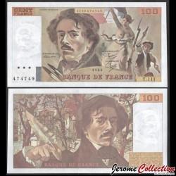FRANCE - BILLET de 00 Francs - Eugène Delacroix - 1986 P154b