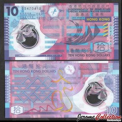 HONG KONG - Billet de 10 Dollars - Polymer - 2012 P401c