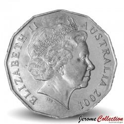 AUSTRALIE - PIECE de 50 Cents - Centenaire de la fédération : Tasmanie - 2001