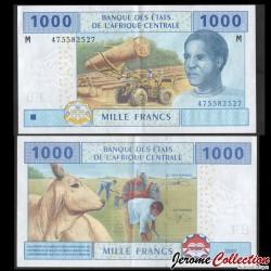 CENTRAFRIQUE - Billet de 1000 Francs - 2016 P307m3