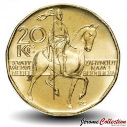REPUBLIQUE TCHEQUE - PIECE de 20 Korun - Statue équestre de St. Venceslas Ier - 2014 Km#5