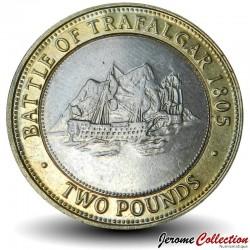 GIBRALTAR - PIECE de 2 Pounds - Navire lors de la bataille de Trafalgar - 2006 Km#1073