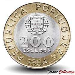 PORTUGAL - PIECE de 200 Escudos - Lisbonne capitale européenne de la culture - 1994