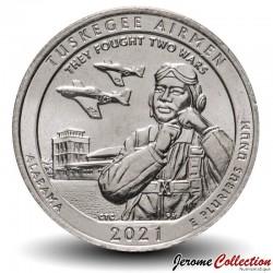 ETATS UNIS / USA - PIECE de 25 Cents - America the Beautiful - Tuskegee Airmen National Historic Site, Alabama - 2021 - S