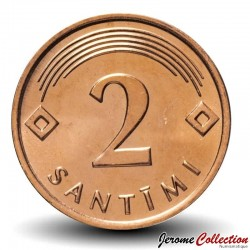 LETTONIE - PIECE de 2 Santimi - 2009 Km#21