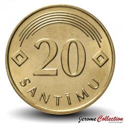 LETTONIE - PIECE de 20 Santimu - 2009 Km#22