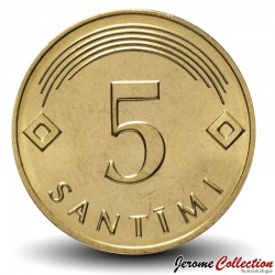 LETTONIE - PIECE de 5 Santimu - 2007 Km#16