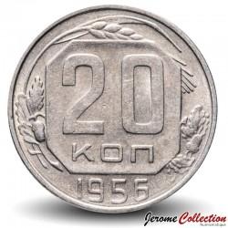 Russie / Union Soviétique / CCCP / URSS - PIECE de 20 kopecks - 1956 Y#118