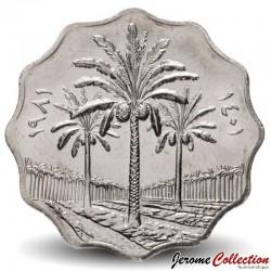 IRAK - PIECE de 10 Fils - Cocotiers - 1981 Km#126a