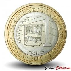 VENEZUELA - PIECE de 1 Bolívar - 2007 Y#93