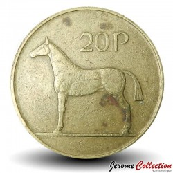 Horse Handcrafted 1988 Ireland 20 Pence  Erie