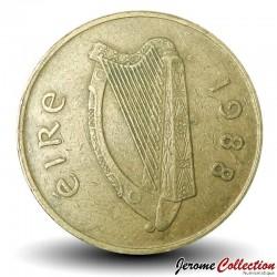 IRLANDE - PIECE de 20 Pence - Un cheval hunters irlandais - 1988
