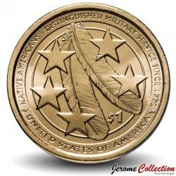 ETATS UNIS / USA - PIECE de 1 Dollar - Sacagawea - Amérindiens dans l'armée américaine - D - 2021 Km#new