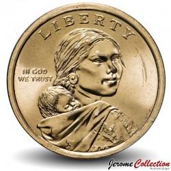 ETATS UNIS / USA - PIECE de 1 Dollar - Sacagawea - Amérindiens dans l'armée américaine - P - 2021