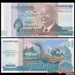 CAMBODGE - Lot de 10 BILLETS de 1000 Riels - Mort du Roi Norodom Sihanouk - 2012