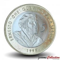 CUBA - PIECE de 5 Pesos Convertibles - Ernesto Che Guevara - Bimétal - 1999 Km#730