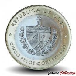 CUBA - PIECE de 5 Pesos Convertibles - Ernesto Che Guevara - Bimétal - 1999