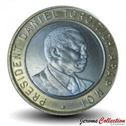 KENYA - PIECE de 10 Shillings - Bimétal - Arap Moi - 1995 Km#27