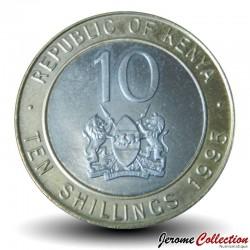 KENYA - PIECE de 10 Shillings - Bimétal - Arap Moi - 1995