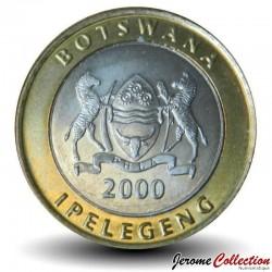 BOTSWANA - PIECE de 5 Pula - Ver Mopane - 2000