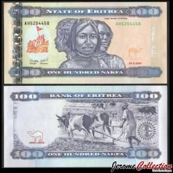 ERYTHREE - Billet de 100 Nakfa - Attelage de bœuf - 24.05.2011 P18a