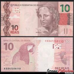 BRESIL - Billet de 10 Reais - Perroquet Ara - 2018 P254d